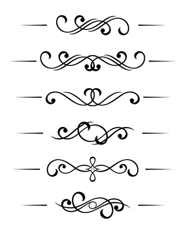 Swirl elements and monograms for design and decorate Stock Vector - 7723109