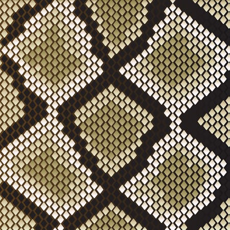 Snake skin pattern for design as a background Vector