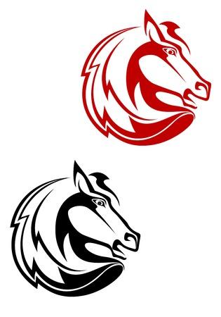 racehorse: Horse tattoo symbol for design isolated on white Illustration