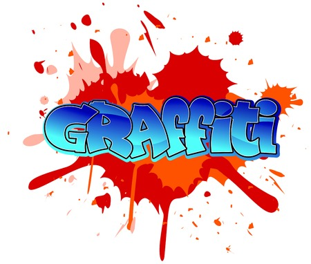 graffiti background: Urban graffiti design on blobs background