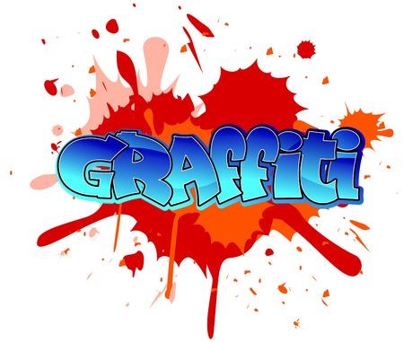 graffiti: Urban graffiti design on blobs background
