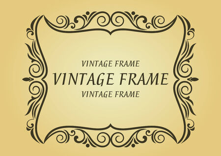 Vintage frame in victorian style for design as a background Stock Vector - 8296831