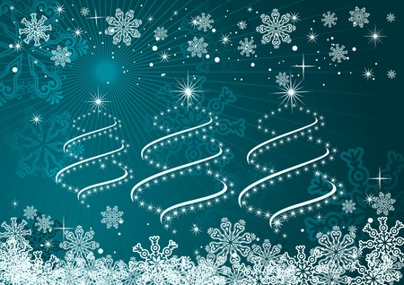 Christmas or new year background for design Stock Vector - 8355744