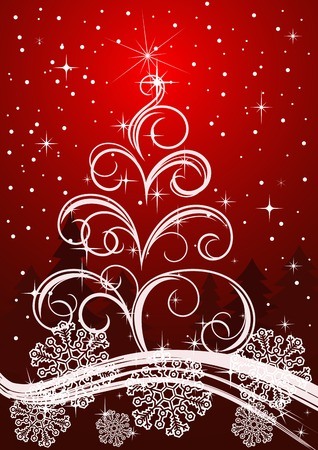 Christmas or new year background for design Stock Vector - 8355738