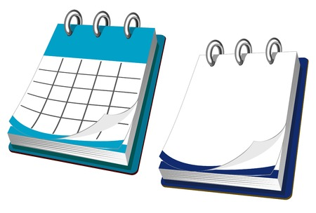 Calendar icon in two variations for web design Vector