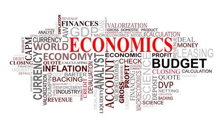 Nube de etiquetas de economía y finanzas para diseño
