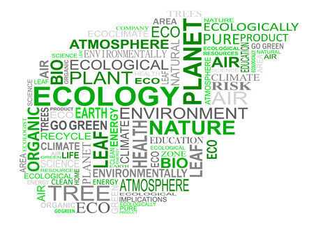 go green: Ecology and nature tags cloud for design