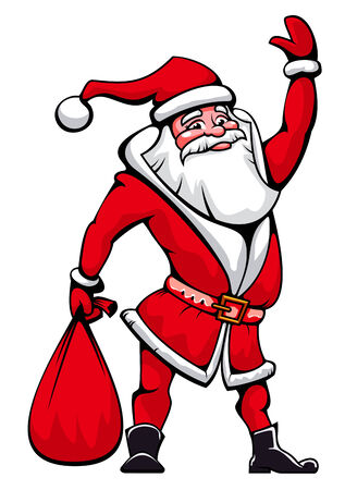 santa funny: Funny Santa Claus as a christmas icon or symbol
