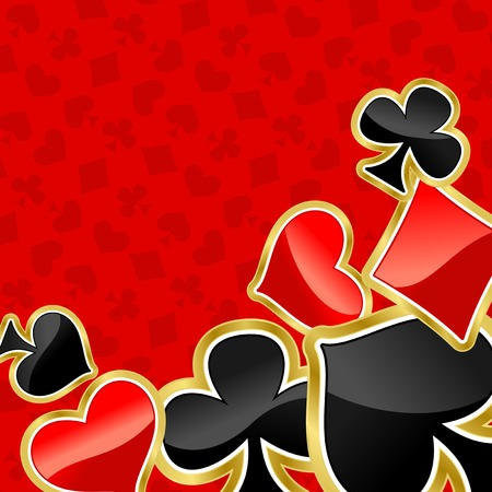 betting: Poker background with symbols of cards for design
