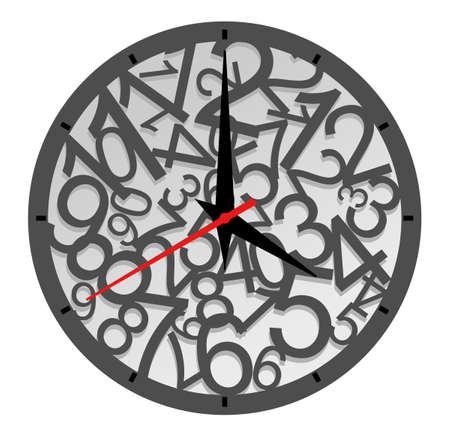 uhr icon: Nat�rliche Taktgeber-Ikone, isoliert auf weiss f�r design Illustration