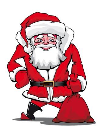 Funny Santa Claus as a christmas icon or symbol Vector