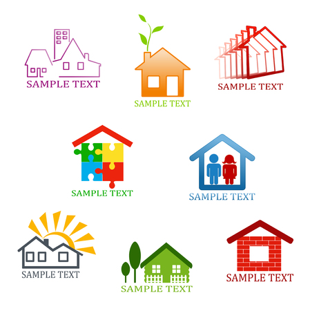 Real estate symbols for design and decorate Stock Vector - 8632719