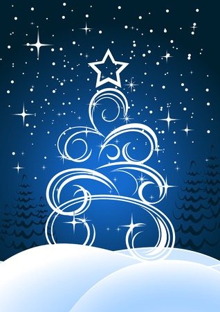 Christmas or new year background for design Stock Vector - 8702415