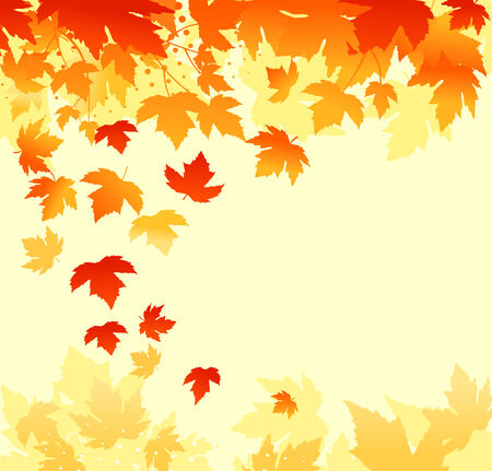 Autumn colorful leaves background for thanksgiving design Vector