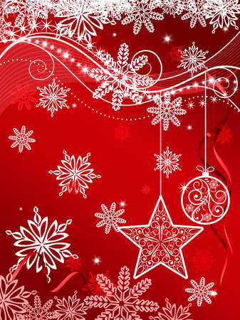 Christmas or new year background for design Stock Vector - 8796014