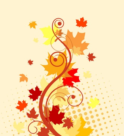 beautiful thanksgiving: Autumn colorful leaves background for thanksgiving design Illustration