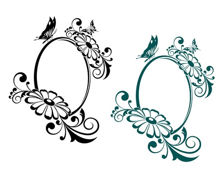 Antique vintage frames isolated on white for design Stock Vector - 8796005