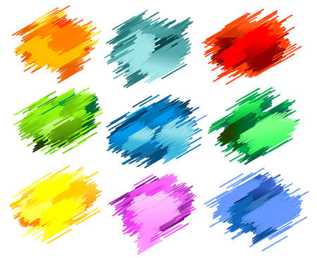 Color abstract splashes isolated on white for design
