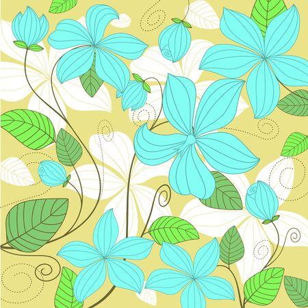 Flower pattern for background or textile design Stock Vector - 8796054