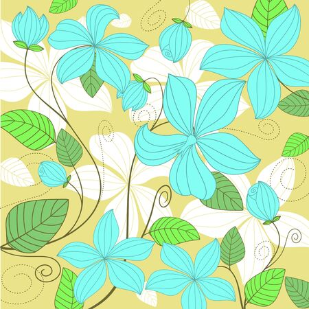 Flower pattern for background or textile design Stock Vector - 8796054