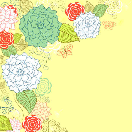 Flower pattern for background or textile design Vector