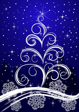 Christmas or new year background for design Stock Vector - 8910416