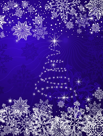 Christmas or new year background for design Stock Vector - 8910420