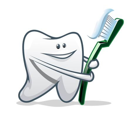 White smiling teeth as a health concept or symbol Vector