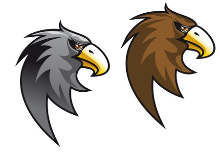 eagle: Cartoon eagle symbol isolated on white for tattoo or another design