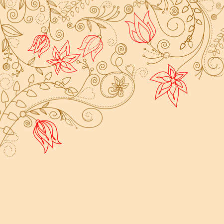 Flower pattern for design as a background Vector
