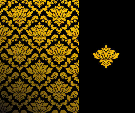 Seamless background and floral pattern for ornate Vector