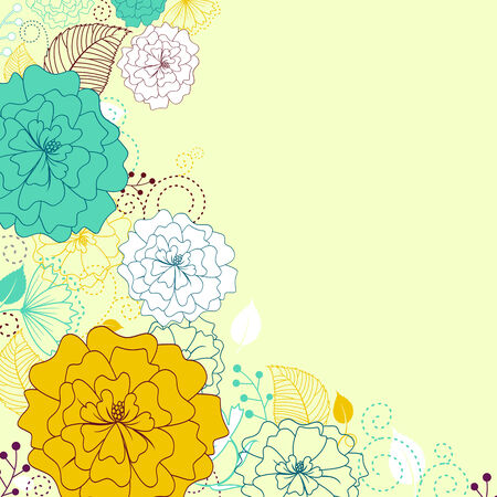 fabric swatch: Flower pattern for background or textile design