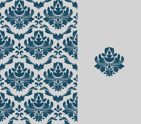 seamless damask: Seamless background and floral pattern for ornate