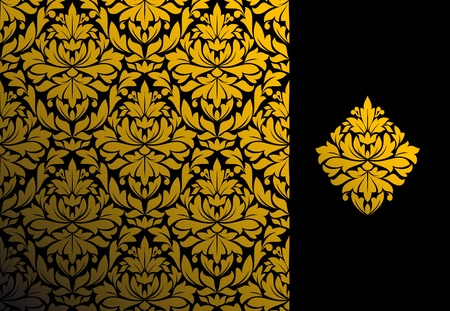 drapery: Seamless background and floral pattern for ornate