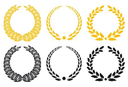гребень: Набор золотых и черных лавровых венков