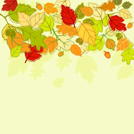 Autumn colorful leaves background for seasonal design Vector