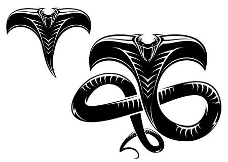 serpiente cobra: Serpientes aislados como un signo o mascota