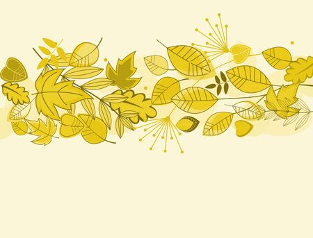 Autumn leaves background for fall or thanksgiving design Vector