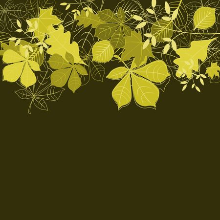 Autumn leaves background for seasonal or thanksgiving design Vector