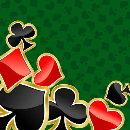 Poker background with symbols of cards for design Vector
