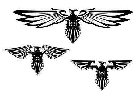 national  emblem: Heraldry eagle symbols and tattoo