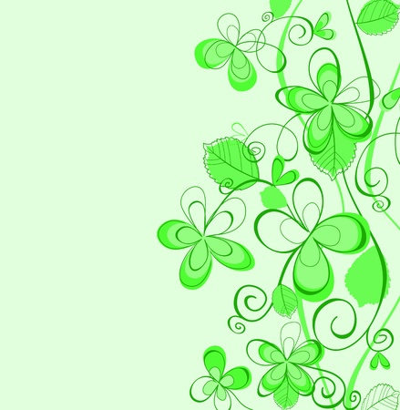 Abstract green spring patterns for design as a background Vector