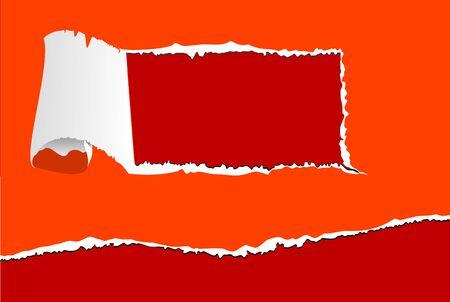 ecartel�: �l�ments de papier d�chir� avec des trous pour la conception Illustration