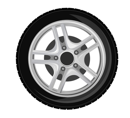 Wheel and tire for transport or service design Vector