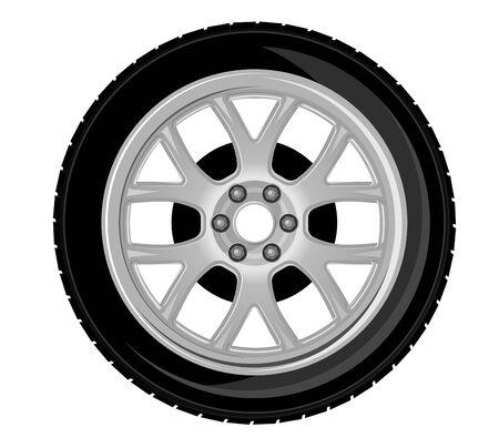 motricit�: Roues et pneus pour la conception de transport ou de service Illustration