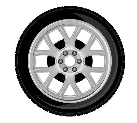 Wheel and tire for transport or service design Stock Vector - 9555285