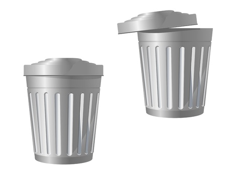 Recycle bin icon in two variations isolated on white Vector