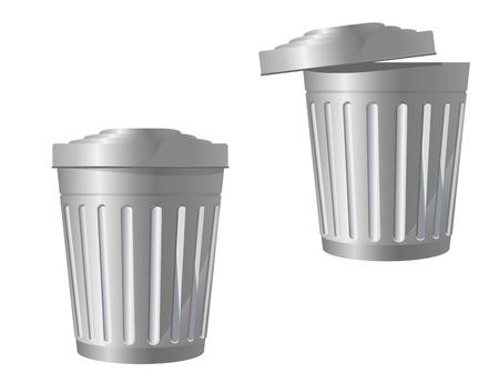Reciclar el icono de bandeja en dos variaciones aislados en blanco