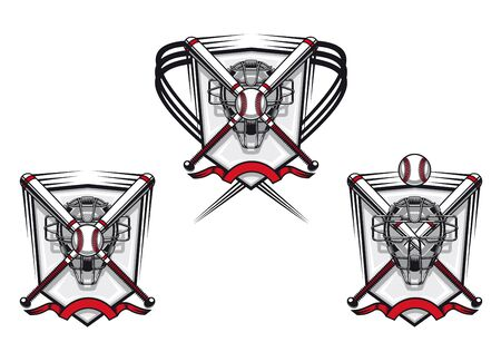 champions league: Baseball emblems set for sports design or mascot Illustration