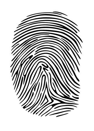 odcisk kciuka: Karnych odcisków palców na detektywie, sequrity orprivacy projekty koncepcyjne Ilustracja